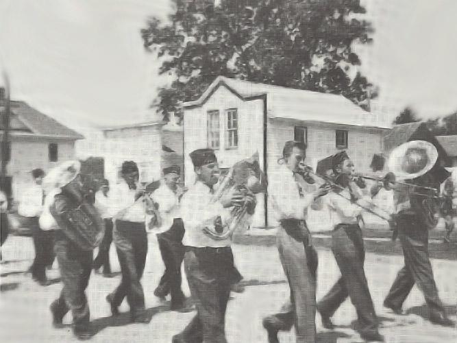 Legion Parade, Dows St, 1940s