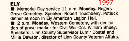 Cedar Rapids Gazette May 25, 1997
