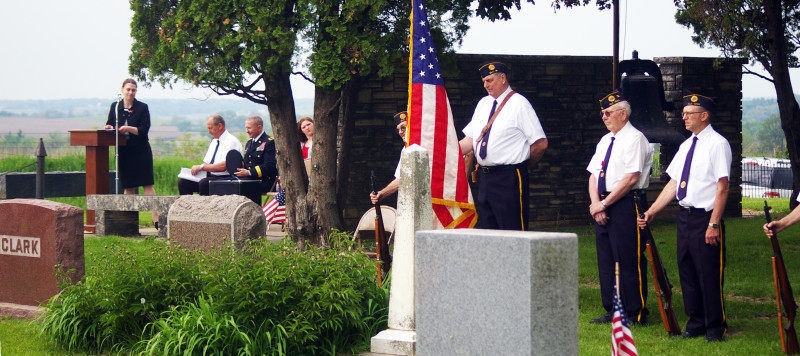 Memorial Day 2014 at Rogers Grove Cemetery (Click to enlarge)