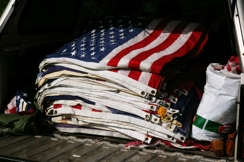 Over 100 unserviceable flags were retired.